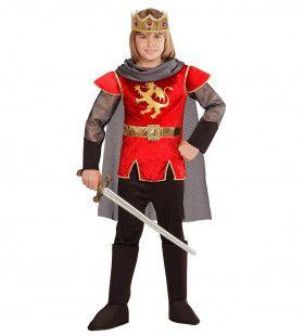 King Arthur English Rose Rood Jongen Kostuum