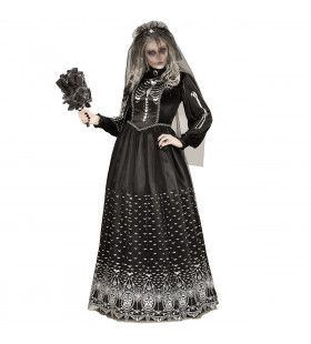 Skelet Bruid Caroletta Vrouw Kostuum