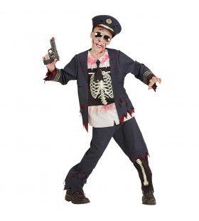 Zombie Politie Cock Jongen Kostuum