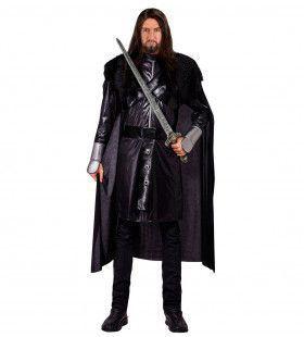 Zwarte Ridder Enhuam Man Kostuum