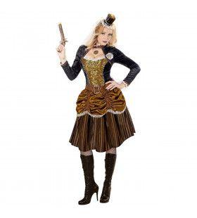Steampunk Meisje Golda Vrouw Kostuum