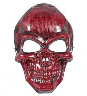 Schedelmasker Rood Metallic Rojo