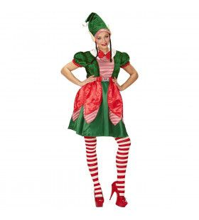 Eerlijk Elfje Kerstman Vrouw Kostuum