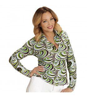 Groovy Gina 70s Dames Shirt, Golven