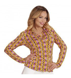 Groovy Gina 70s Dames Shirt, Lps Vrouw