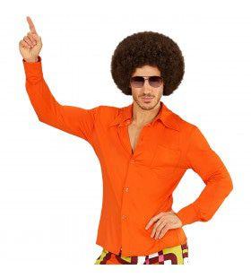 Groovy Garry 70s Heren Shirt, Oranje Man