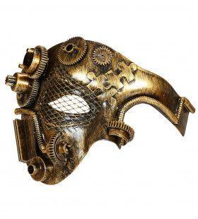 Halfgezichtmasker Steampunk, Koper Mechanica