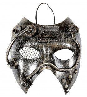 Steampunk Masker, Zilver Mechanica