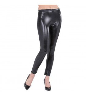 Glossy Zwarte Legging Vrouw