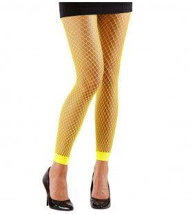Basis Visnet Legging Geel Vrouw