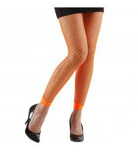 Basis Visnet Legging Oranje Vrouw