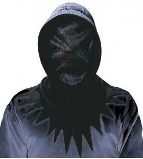 Creepy Onzichtbaar Gezichtsmasker Zwart