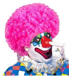 Afro Clownpruik Krullen, Rose