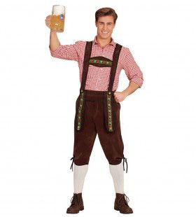 Beierse Lederhose Helmut Bruin Man Kostuum