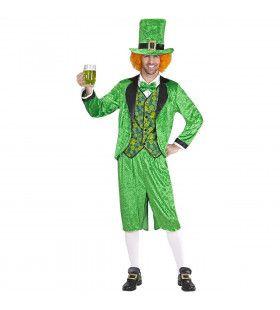 Leprechaun St. Patricksday Kabouter Man Kostuum