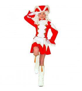 Brabantse Majorette Meisje Rood Kostuum
