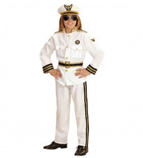 Marine West Point Kapitein Jongen Kostuum