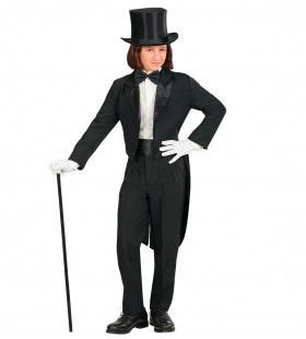 Er Monsieur Jacquet Zwart Jongen Kostuum
