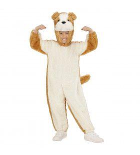 Jumpsuit Met Kap En Masker 98 Centimeter, Brave Hond Kostuum