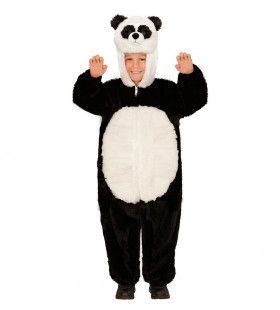 Jumpsuit Met Kap En Masker 98cm, Pinda Panda Kostuum