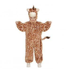 Jumpsuit Met Kap En Masker 98cm, Eindeloos Lange Giraf Kostuum