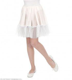 Witte Rock And Roll Petticoat Meisje