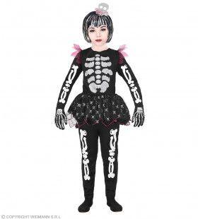Skelet In Een Tutu Meisje Kostuum