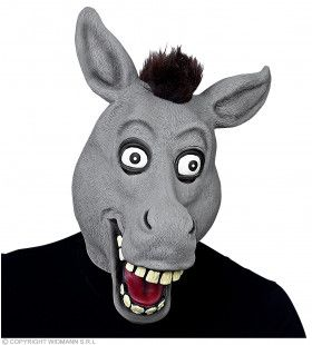 Lachende Ezel Met Vrolijke Ogen Masker