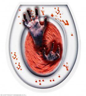 Bloederige Zombie Hand Wc Bril Hoes