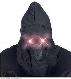 Masker Beul Met Kap En Lichtgevende Rode Ogen