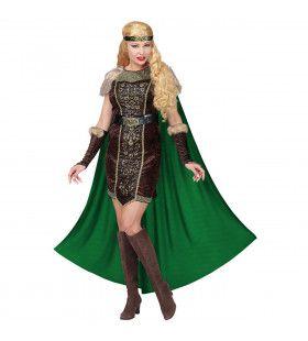 Onoverwinnelijke Viking Fridrika Vrouw Kostuum