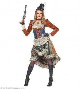 Chique Steampunk Dame Industrieel Tijdperk Vrouw Kostuum