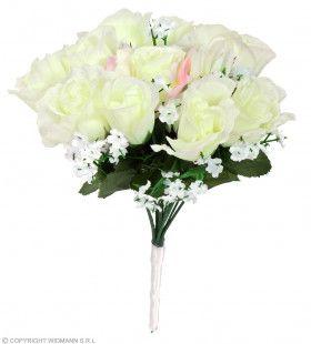 Bruidsboeket Witte Rozen