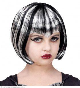 Zwart Witte Bebop Heksen Pruik