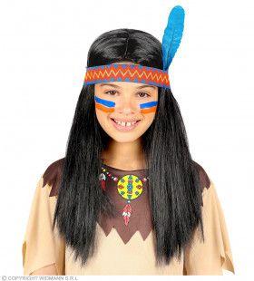 Asakiwaki Indianen Pruik Met Hoofdband