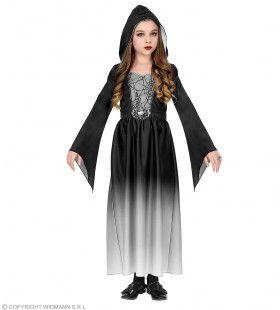 Gotische Schone Vanessa Zwart Grijs Meisje Kostuum