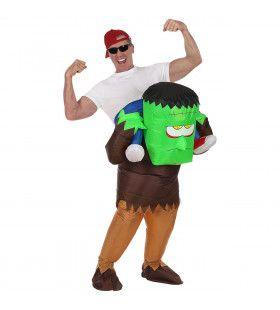 Opblaasbaar Op De Rug Van De Hulk Kostuum