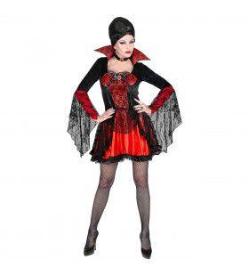 Verleidelijke Vampier Sandra Sukovic Vrouw Kostuum