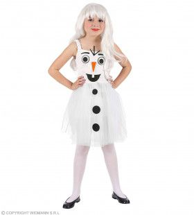 Lange Koude Winter Sneeuwpop Meisje Kostuum