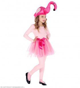 Roze Flamingo Muts En Tutu Meisje