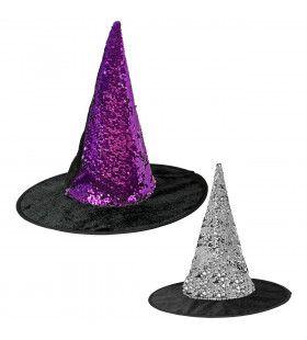 Omkeerbare Heksenhoed Paars En Zilver