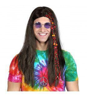 Pruik Hippie Kraaltjes En Staartjes