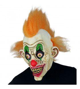 Masker Horror Circus Clown Oranje Haar