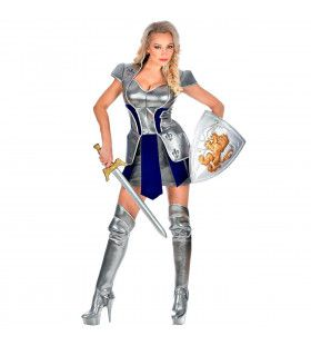Stijlvolle Stoere Stalen Ridder Vrouw Kostuum