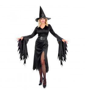 Rafelina Toverheks Zwarte Magie Vrouw Kostuum