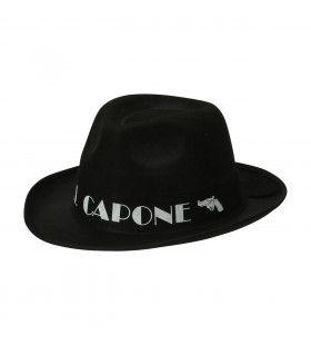 Gangster Hoed Zwart Al Capone