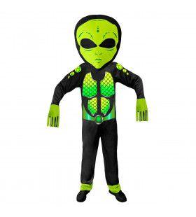 Gifgroen Science Fiction Ruimtemonster Kind Kostuum