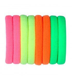 8 Haarbandjes Verschillende Neon Kleuren