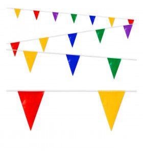 Feestelijke Vlaggenlijn Meerkleurig 10 Meter