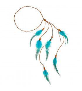 Veren Hoofdband Indiaan Turquoise